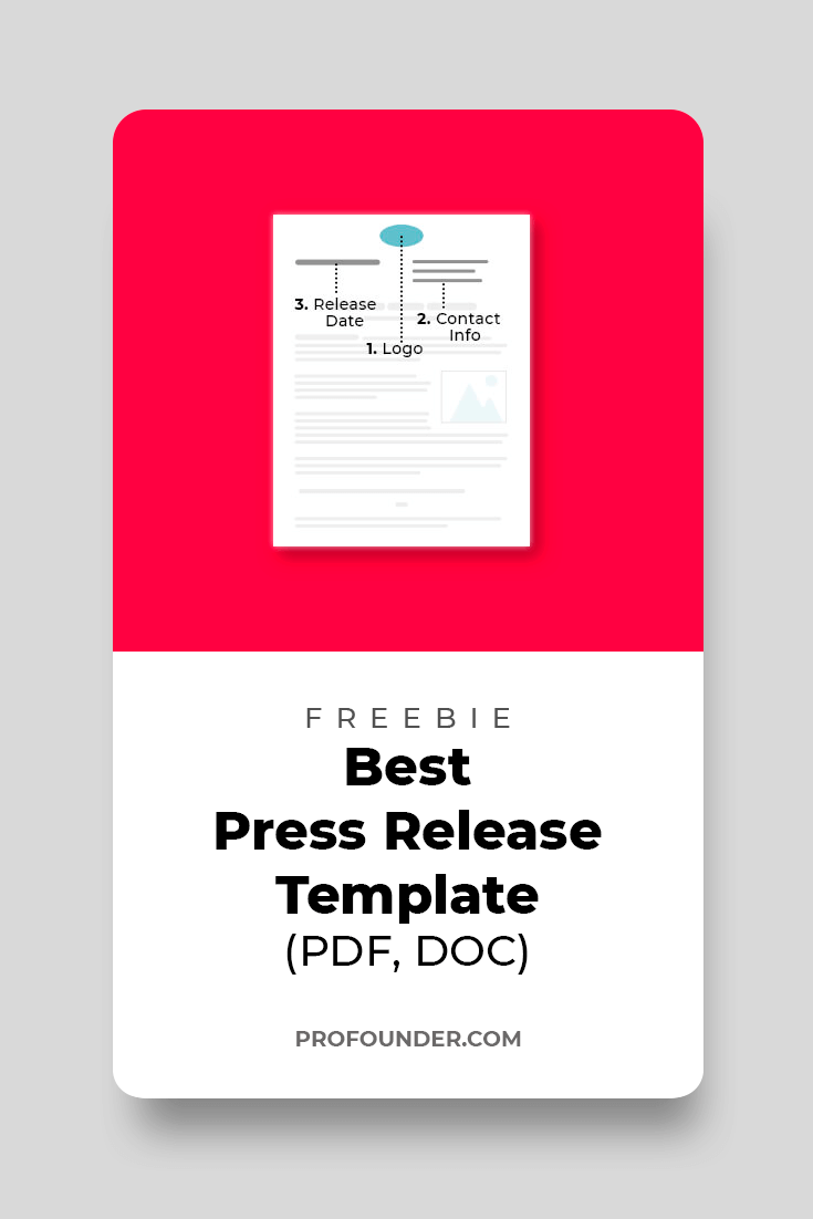 Freebie Press Release Template