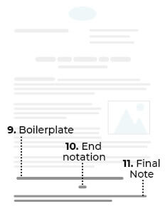 9. Boilerplate. 10. End notation. 11. Final Note.