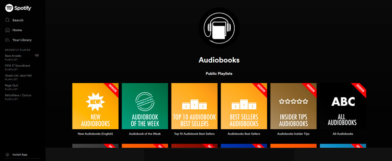 Official Audiobooks Playlists