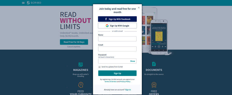 Scribd: The Definitive Review  Scribd vs Audible [2019 Updated]