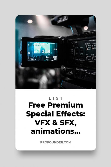 600+ free special effects for video editing: VFX & SFX, animations, overlays, footages, presets
