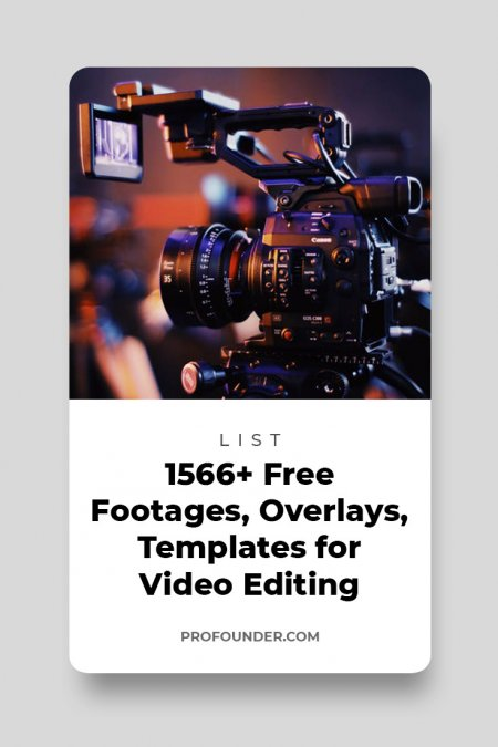 1566+ Free Footages, Templates, Overlays and Effects for Video Editing