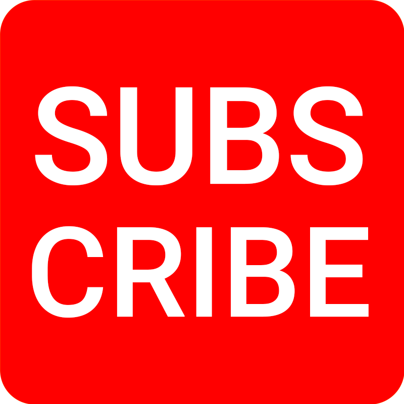 YouTube SUBSCRIBE Button Watermark PNG