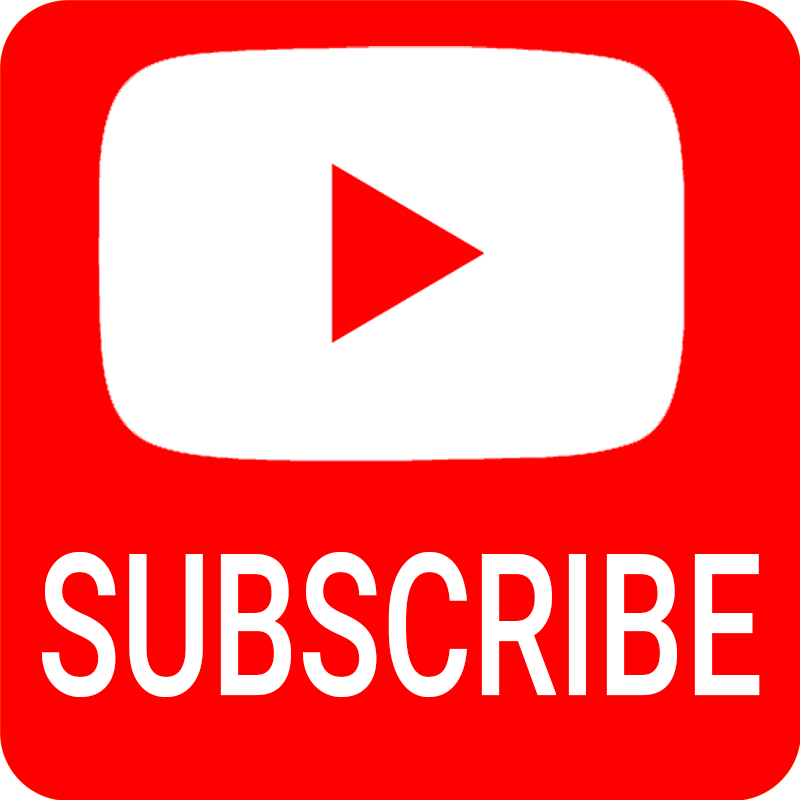 YouTube SUBSCRIBE Button Watermark PNG with icon