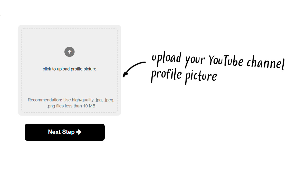 step2: upload your YouTube channel profile picture
